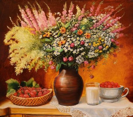 Evgeny Vladimirovich Terentyev. Field bouquet in a jug
