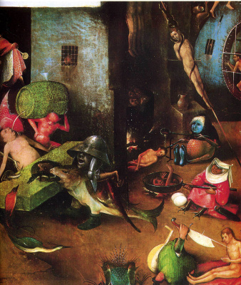Hieronymus Bosch. Judgment. The Central part of the triptych. Fragment