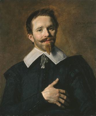 Франс Хальс. Портрет мужчины, держащего руку у сердца