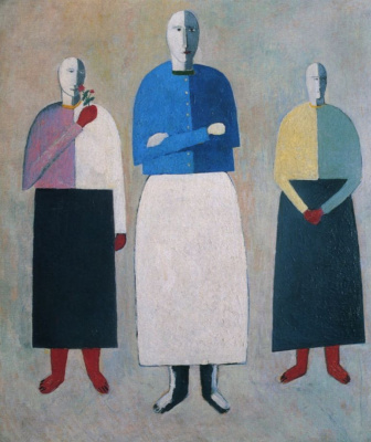 Kazimir Malevich. Three girls