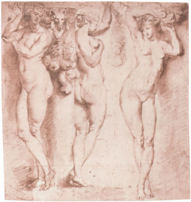 Peter Paul Rubens. Three caryatids