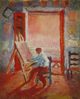 Salvador Dali. Self portrait in the Studio