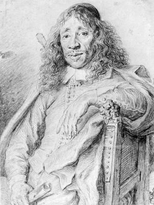 Jan Lievens. Portrait of poet Jan Vos
