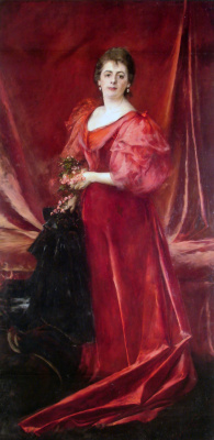 Ernesto from La Cárcova. Portrait of Mrs. Maria de la Cárcova de Ferrari