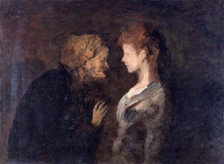 Honore Daumier. The Secret
