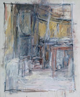 Alberto Giacometti. The interior of the Studio