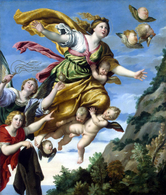Domenichino. The capture of Mary Magdalene into heaven
