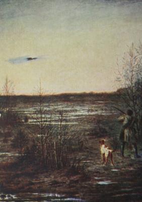 Петр Петрович Соколов. «На тяге» 1864