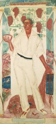 Александр Евгеньевич Яковлев. Портрет Роберто Монтенегро. 1915
