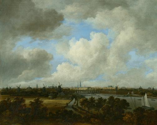 Jakob van Isaacs Ruisdael. Amsterdam view