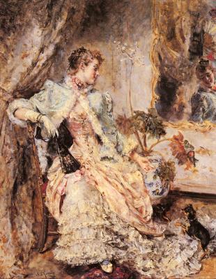 Эдуардо Леон Гарридо. Элегантная женщина и ее собака