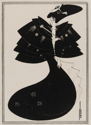 Aubrey Beardsley. Black Cape