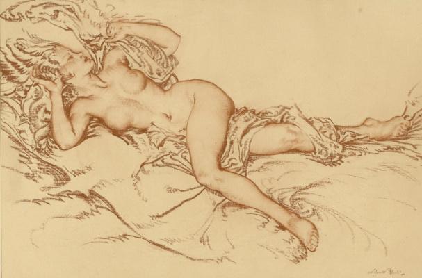 William Russell Flint 1880 - 1969 Scotland. Venus.