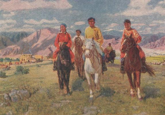 Vasily Fadeevich Demin. Young arats of Soviet Tuva