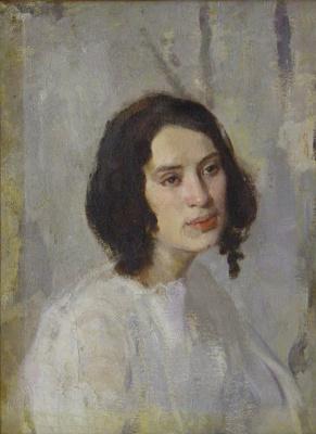 Pavel Petrovich Benkov. Portrait of Vera Shmulevich (Popova)