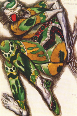 Lev Samoilovich Bakst (Leon Bakst). Costume design for the Opera Sadko - Green Monster