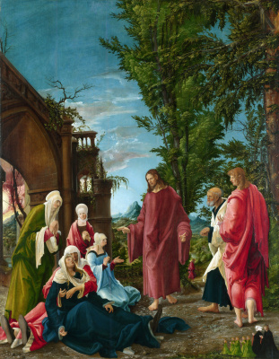 Albrecht Altdorfer. Christ says goodbye to his mother