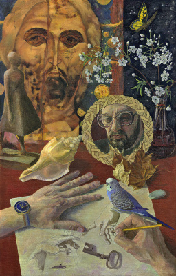 Андрей Иванович Борисов. Натюрморт с попугаем