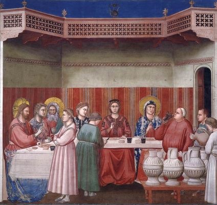 Giotto di Bondone. Marriage in Cana. Scenes from the life of Christ