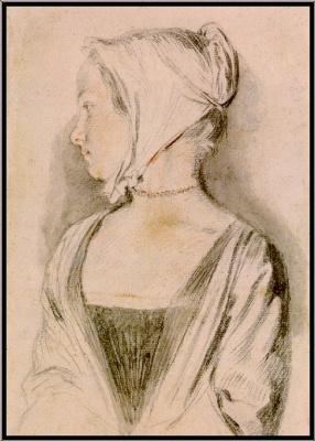 Antoine Watteau. Portrait of a girl