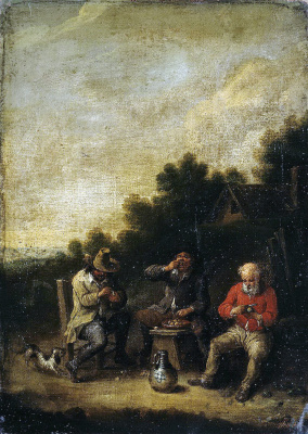 Peter Baut. Farmers around the tavern