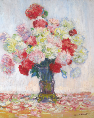 Claude Monet. Vase with peonies