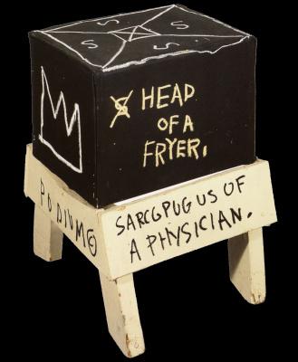 Jean-Michel Basquiat. Head in the deep fryer