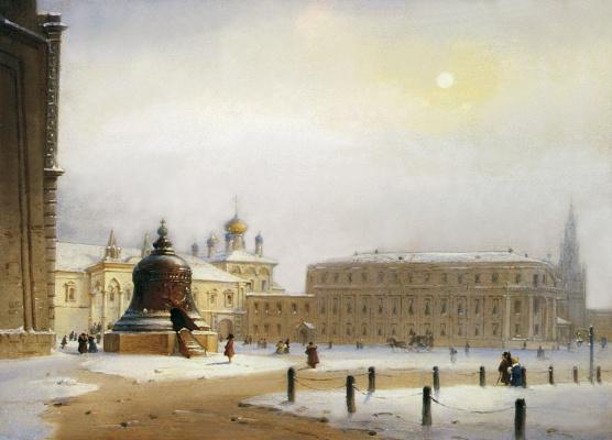 Карл-Фридрих Петрович Бодри Россия 1812 - 1894. Ivanovskaya Square in Moscow