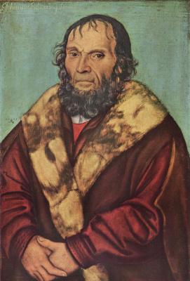 Лукас Кранах Старший. Портрет магдебургского теолога доктора Иоганнеса Шёнера