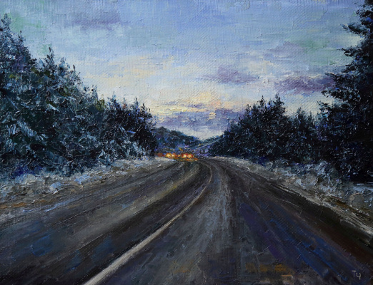 Tatyana Chepkasova. Evening road