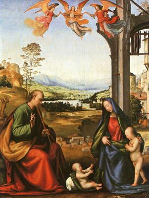 Фра Бартоломео. Богородица с Христом и маленьким Иоанном