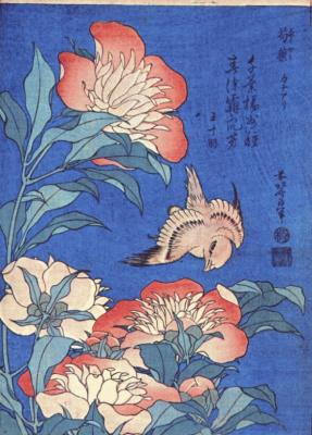 Кацусика Хокусай. Пионы и канарейка