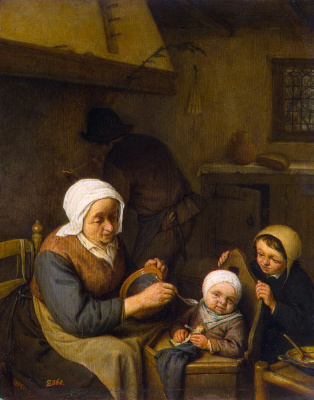 Адриан ван Остаде. Крестьянская семья