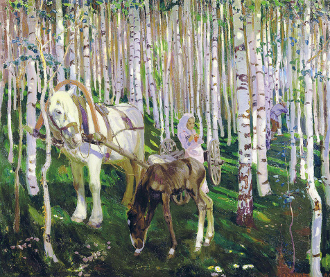 Arkady Alexandrovich Rylov. In the woods