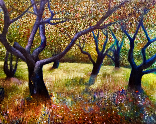 Julia Sergeevna Evtushenko. Apple orchard