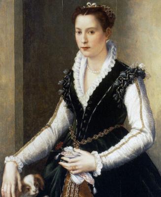 Алессандро Аллори. Портрет знатной дамы с собачкой