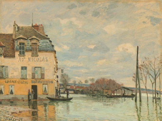 Alfred Sisley. Flood at Port Marly