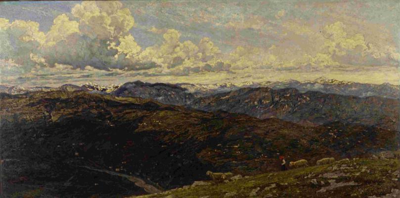 Серафино де Тиволи. Пейзаж с овцами