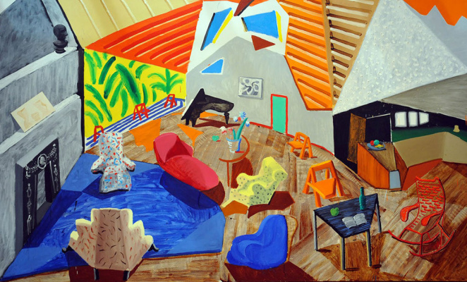 David Hockney. A great interior. Los Angeles