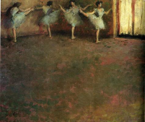 Edgar Degas. Before the ballet (detail)