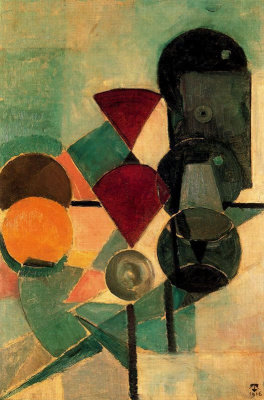 Theo van Dusburg. Composition 2. Still life