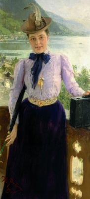 Ilya Efimovich Repin. Portrait Of Natalia Borisovna Nordman