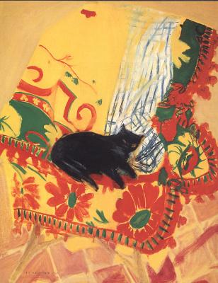 Элизабет Блаккаддер. Кошка на коврике
