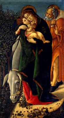 Sandro Botticelli. Rest on the flight into Egypt