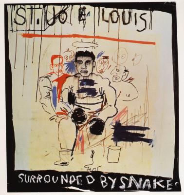 Jean-Michel Basquiat. SV. Joe Louis surrounded by snakes