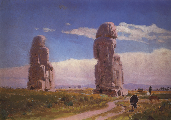 Vasily Dmitrievich Polenov. The colossi of Memnon (Statue of Amenhotep III)