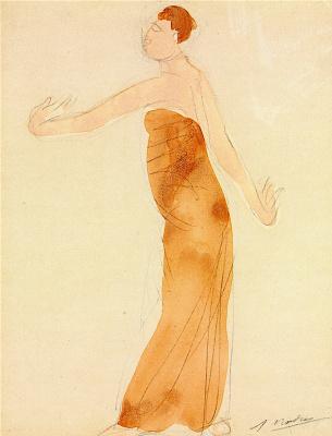 Auguste Rodin. Cambodian dancer