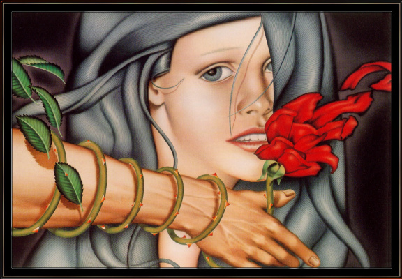 Брайан Кенеу. Девушка с розой