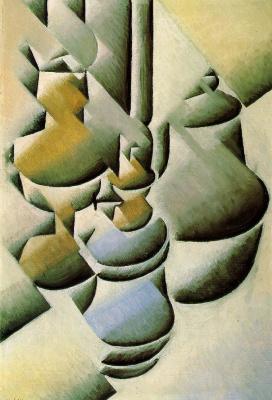 Хуан Грис. Натюрморт с керосиновой лампой