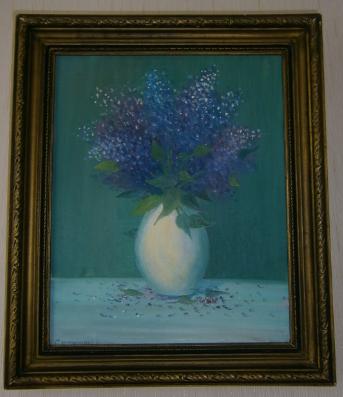 Vladimir Alexandrovich Sverbinenko. A bouquet of lilacs